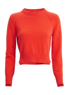 Helmut Lang Cropped Red Cashmere Sweater