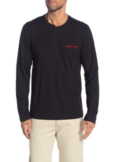 Helmut Lang Cut Crew Neck Long Sleeve T-Shirt