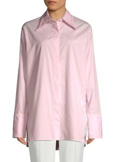 Helmut Lang Cut-Out Cotton Button-Down Shirt