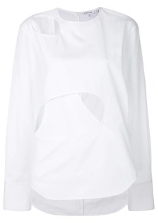Helmut Lang cut out detail blouse
