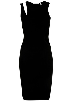 Helmut Lang cut-out detail fitted bodycon dress