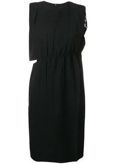 Helmut Lang cut out gathered dress