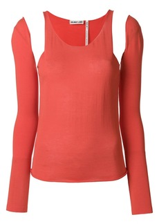 Helmut Lang cut out shoulder top