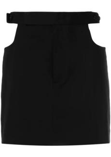Helmut Lang cut out skirt