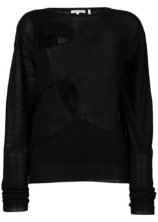 Helmut Lang cut out sweater
