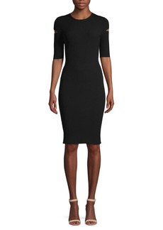 Helmut Lang Cutout Mini Sheath Dress