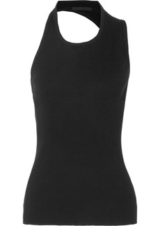 Helmut Lang Cutout Ribbed Cotton-jersey Tank