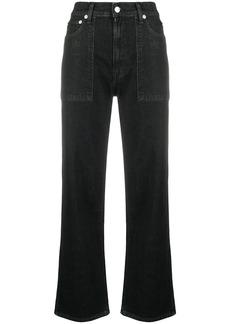 Helmut Lang dark-wash wide leg jeans