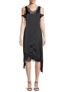Helmut Lang Deconstructed Lace Slip Dress