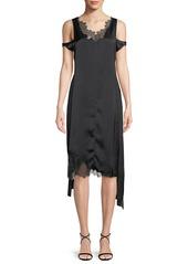 Helmut Lang Deconstructed Lace Slip Dress