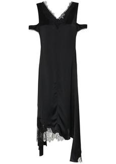 Helmut Lang silk deconstructed slip dress