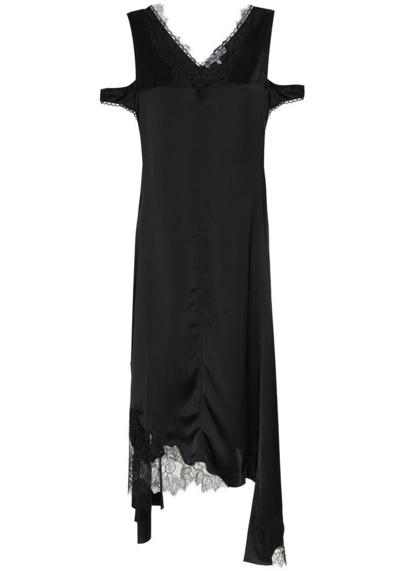 Helmut Lang silk deconstructed slip dress