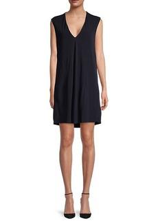 Helmut Lang Deep V-Neck Sleeveless Dress