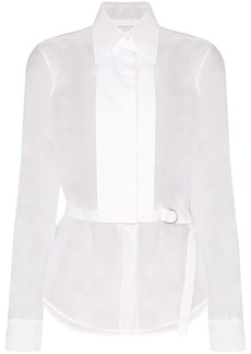 Helmut Lang detachable-bib shirt