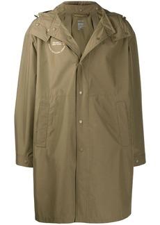 Helmut Lang detachable hood raincoat