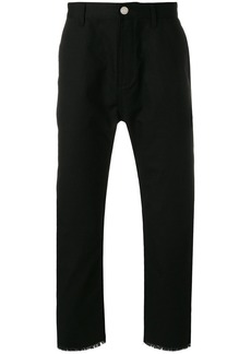 Helmut Lang distressed cropped trousers