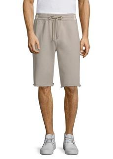 Helmut Lang Distressed Hem Shorts
