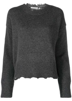 Helmut Lang distressed knitted jumper