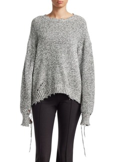 Helmut Lang Distressed Relax-Fit Sweater