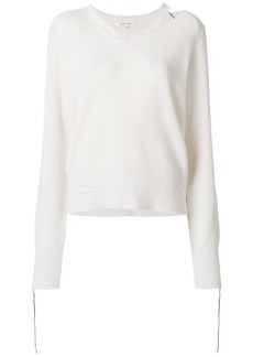 Helmut Lang distressed v-neck jumper