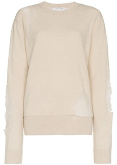 Helmut Lang distressed wool blend sweater