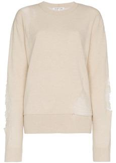 Helmut Lang distressed wool blend sweater