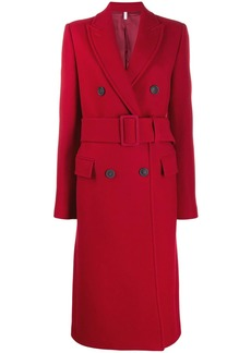 Helmut Lang double-breasted belted coat