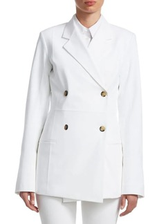 Helmut Lang Double-Breasted Cotton-Blend Blazer