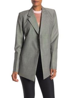 Helmut Lang Double Breasted Wool Blanket Coat