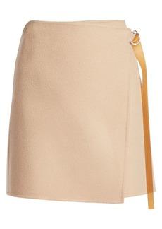 Helmut Lang Double-Face Wool & Cashmere Wrap Skirt