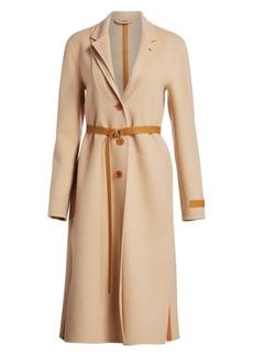 Helmut Lang Double Lapel Wool & Cashmere Overcoat
