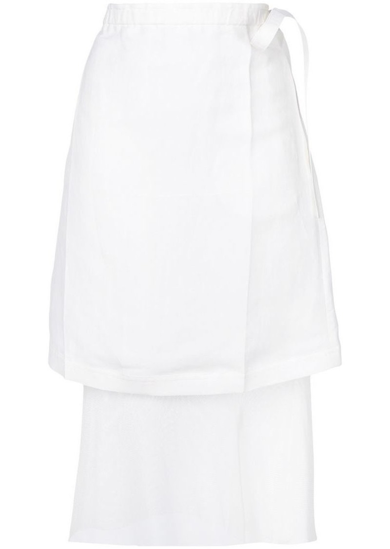 Helmut Lang double layer skirt