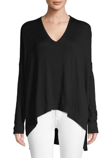 Helmut Lang Draped High-Low Pullover