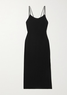 Helmut Lang Draped Jersey Midi Dress