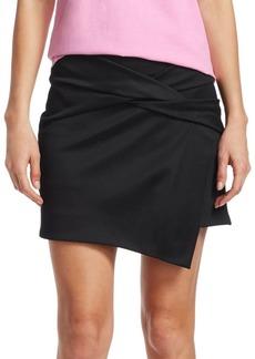 Helmut Lang Draped Knot Mini Skirt