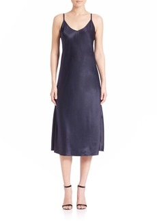 Helmut Lang Draped Silk Slip Dress