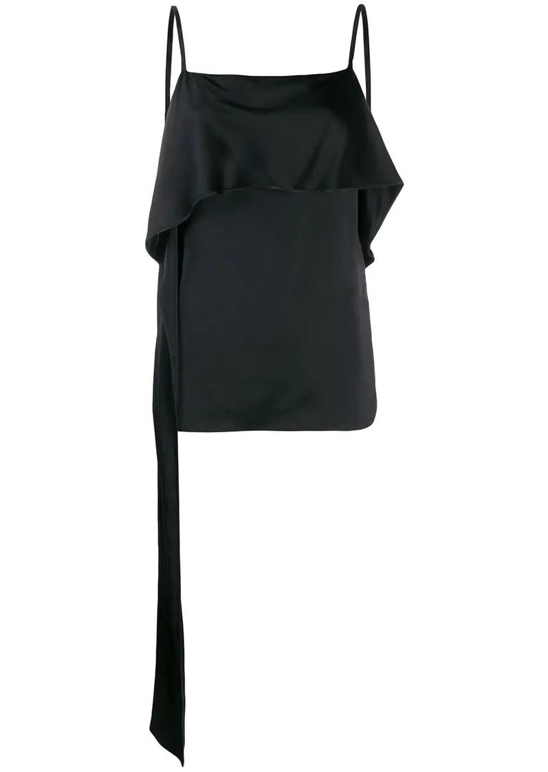 Helmut Lang draped slip top