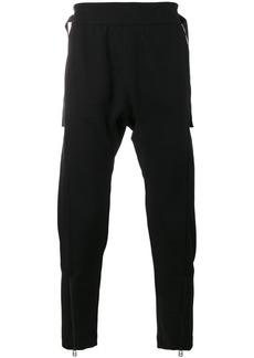 Helmut Lang drop crotch zip detail trousers