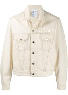 Helmut Lang embroidered logo denim jacket