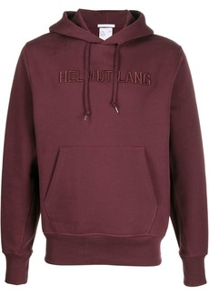 Helmut Lang embroidered logo hoodie