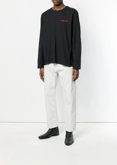 Helmut Lang embroidered logo jumper
