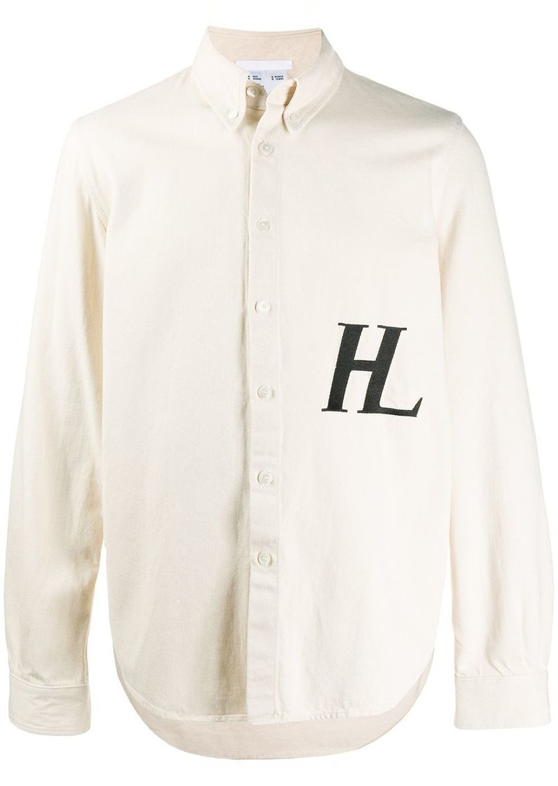 Helmut Lang embroidered logo shirt