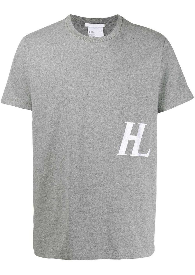 Helmut Lang embroidered logo T-shirt