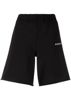 Helmut Lang embroidered-logo track shorts