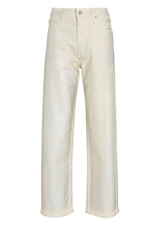 Helmut Lang Factory Lacquered High-Rise Jeans