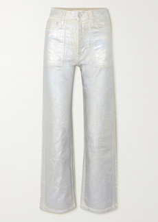 Helmut Lang Factory Metallic High-rise Flared Jeans