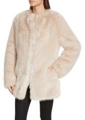 Helmut Lang Faux Fur Coat