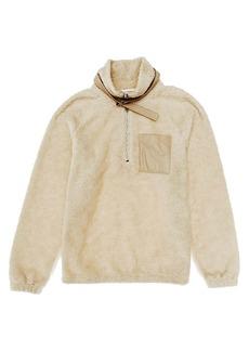 Helmut Lang Faux-Shearling Fleece Half-Zip Sweatshirt