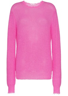 Helmut Lang feather weight mohair jumper