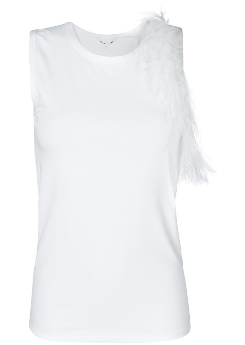Helmut Lang feathered tank top